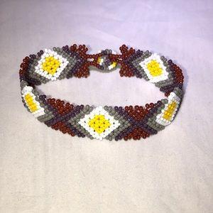 Tribal Designs Yellow Diamond Bracelet